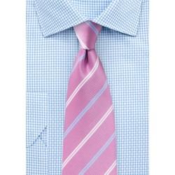 Repp Stripe Tie in Lilac Chiffon