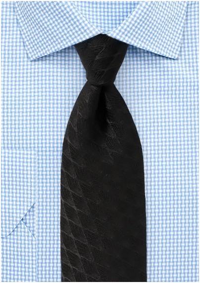 Formal Black Winter Tie