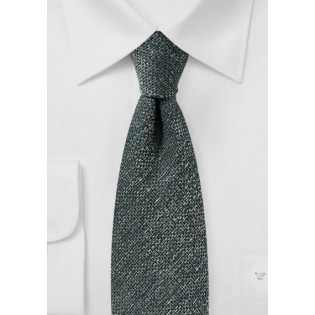 Dark Olive Green Tie in Recycled Yarn