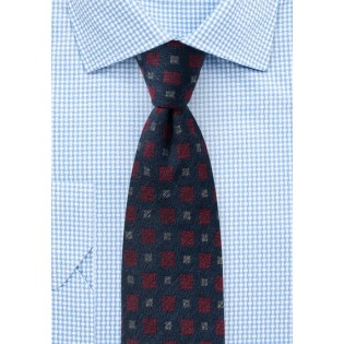Wool Medallion Designer Tie