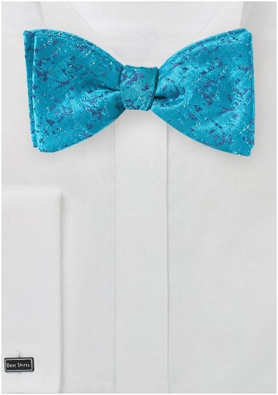 d72467fda422 Abstract Art Bow Tie in River Blue