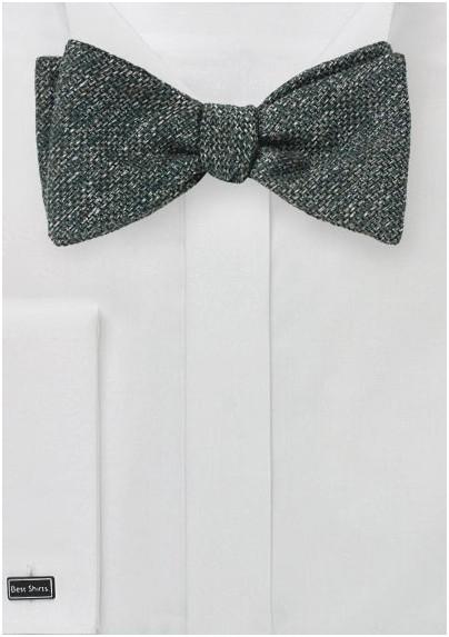 Dark Olive Self-Tie Autumn Bow Tie
