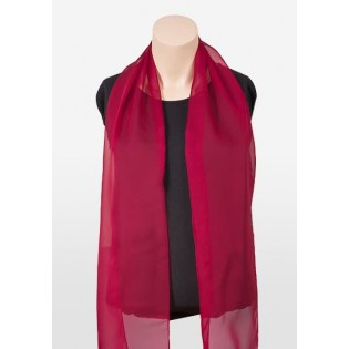 Chiffon Scarf in Cherry