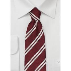 Winter Striped Design in Crimson Red