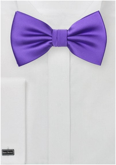 Solid Bow Tie in Freesia Purple