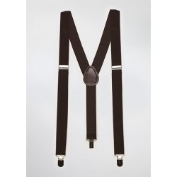 Elastic Mens Suspenders in Brown