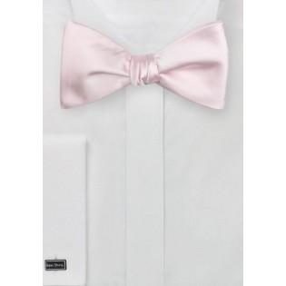 Elegant Self Tie Bow Tie in Blush