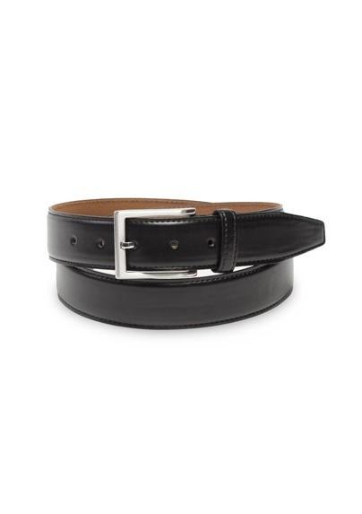 Classic Dress Leather Belt in Black