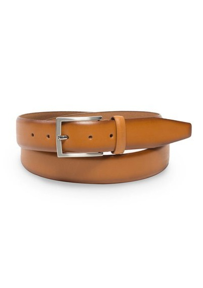 Elegant Dress Belt in Cognac Brown