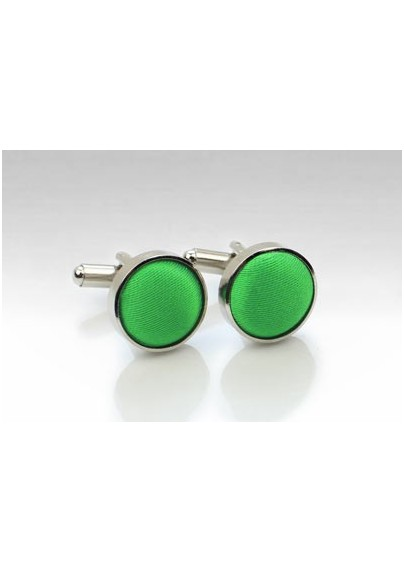 Grass Green Fabric Covered Cufflinks