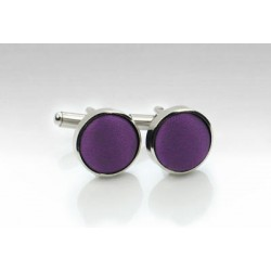 Eggplant Fabric Covered Cufflinks