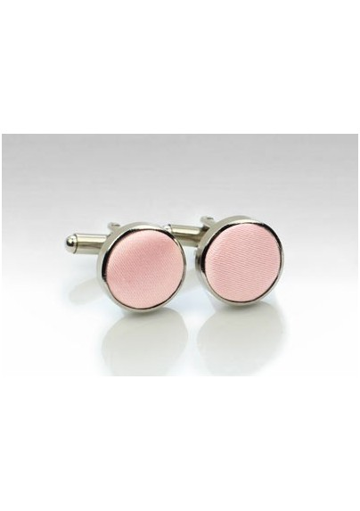 Fabric Covered Cufflinks in Candy Pink