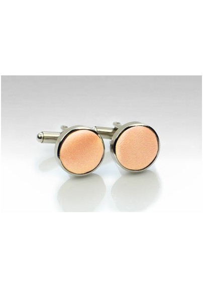 Cufflinks in Peach Apricot