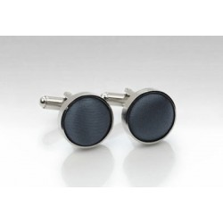 Fabric Cufflinks in Smoke Gray