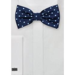 Blue Polka Dot Bow Tie
