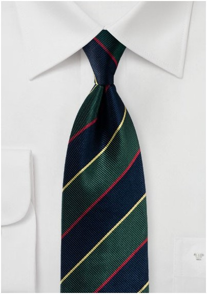 Regimental Striped Silk Necktie