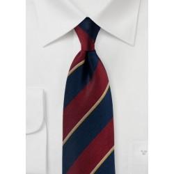 Matte Striped Regimental Silk Tie