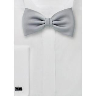 Kids Bow Tie in Formal Silver