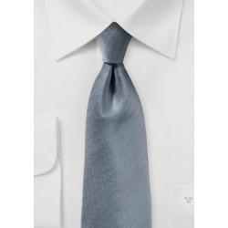 Textured Herringbone Tie in Obsidian Gray
