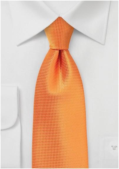 Kids Tie in Bright Nectarine