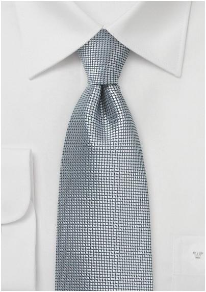 Metallic Silver Kids Tie