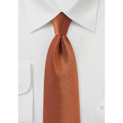 Burnt Orange Herringbone XL TIe