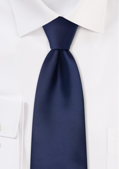 Dark blue men's necktie