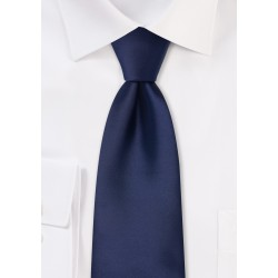 navy blue kids necktie in solid color