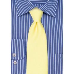 Linen Textured Necktie in Lemon Chiffon