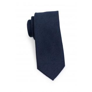 Formal Woolen Midnight Necktie Rolled