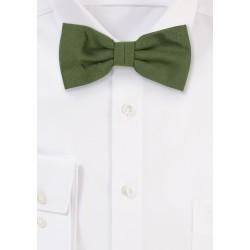 Woolen Bow Tie in Olive Green