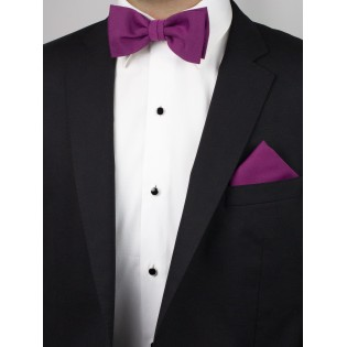 Matte Woven Bow Tie in Sangria Styled