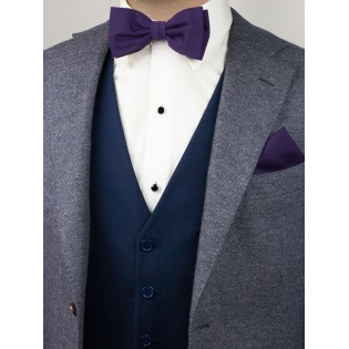Matte Fabric Bowtie in Grape Styled