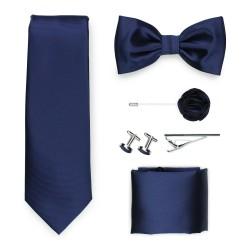 navy blue tie gift set