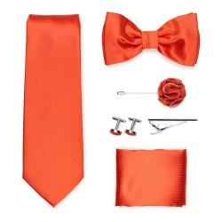 wedding groomsmen gift set in tangerine