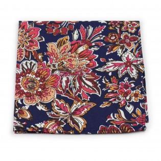 colorful vintage floral suit pocket square