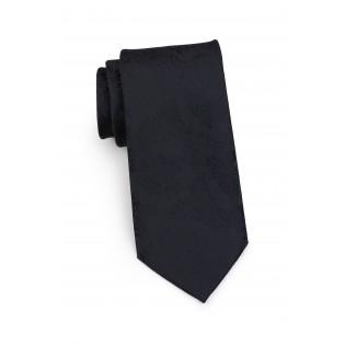 Standard length black paisley necktie