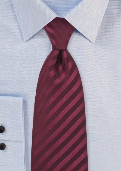 Single color burgundy red tie - Stain resistant microfiber tie in burgundy red