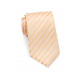 Solid peach color tie - Stain resistant Microfiber necktie in peach-orange