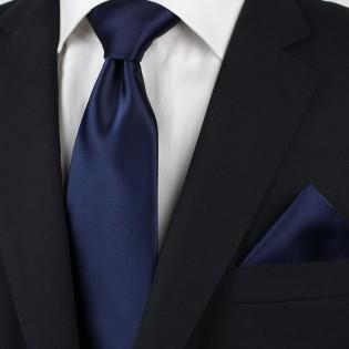 Dark blue men's necktie styled
