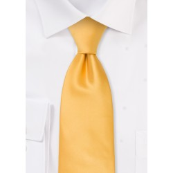Solid Yellow Necktie in Extra Long Length