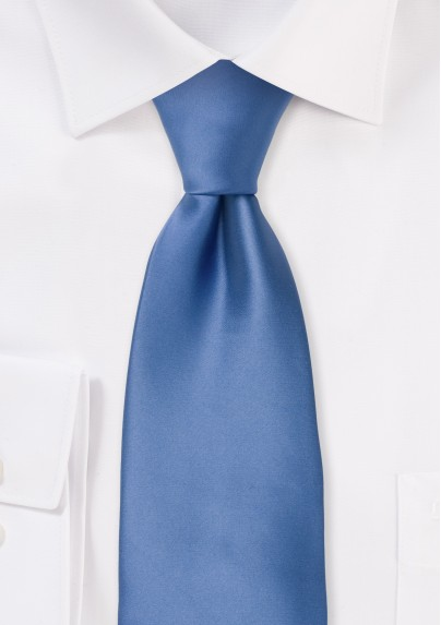 Solid blue neckties - Elegant blue necktie