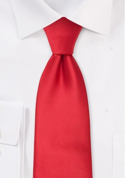 Solid Bright Red Necktie for Kids