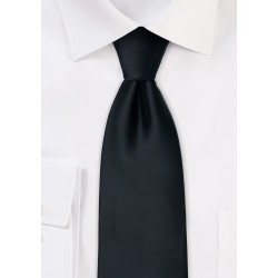 Formal black ties - Solid black necktie