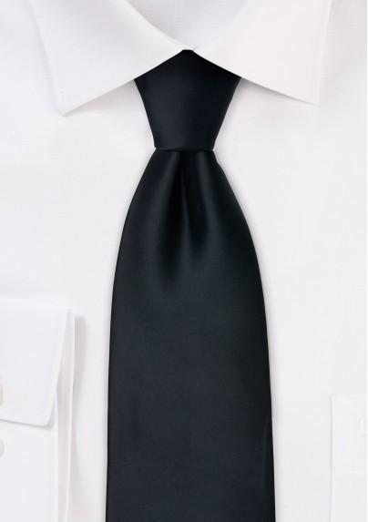Solid Black Necktie in Kids Size
