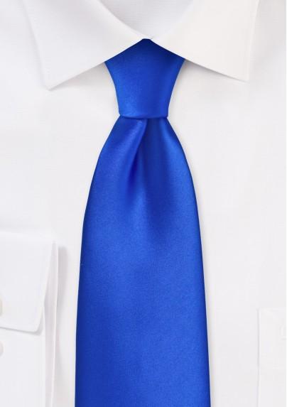 Marine Blue Tie in Long Length