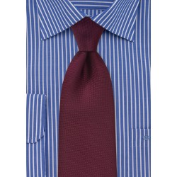 Solid Matte Tie in Maroon