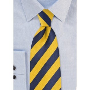 Regimental Yellow and Blue XL Length Tie
