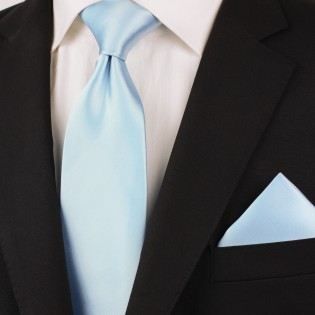 Solid light blue ties - Light blue men's necktie styled