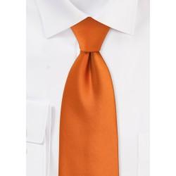 Solid Persimmon Orange Tie in XL